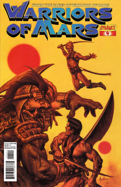 Cover for Warriors of Mars (Dynamite Entertainment, 2012 series) #4