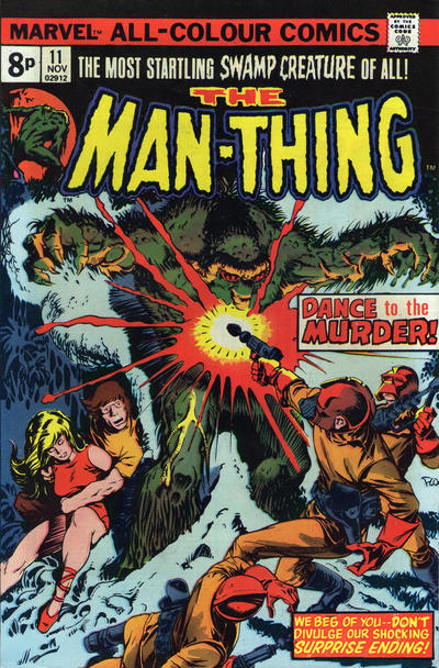 Cover for Man-Thing (Marvel, 1974 series) #11 [British price variant.]