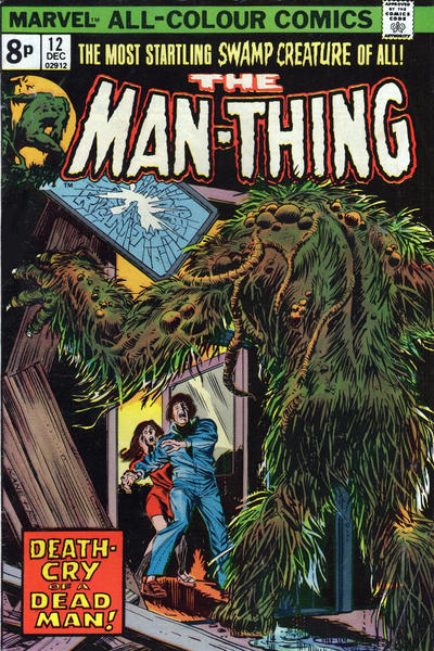 Cover for Man-Thing (Marvel, 1974 series) #12 [British price variant.]