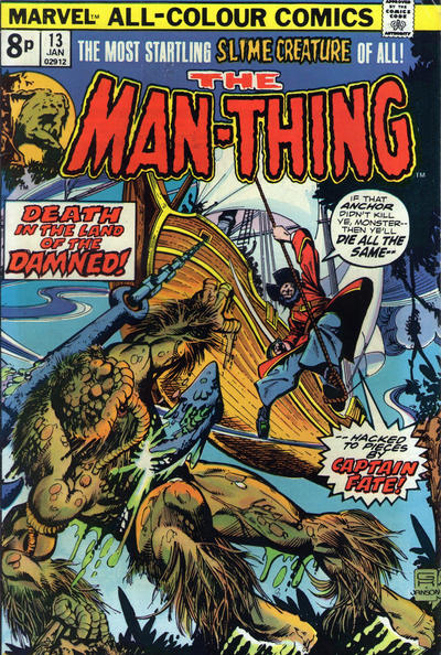 Cover for Man-Thing (Marvel, 1974 series) #13 [British]