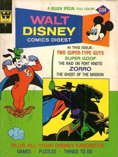 Cover for Walt Disney Comics Digest (Western, 1968 series) #52 [Whitman]