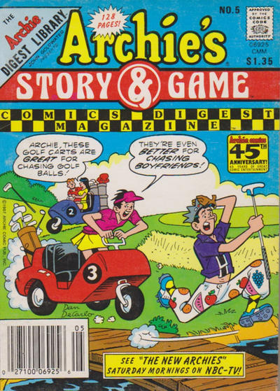 Cover for Archie's Story & Game Digest Magazine (Archie, 1986 series) #5