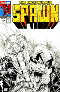 Cover Thumbnail for Spawn (Image, 1992 series) #226 [Cover B - B&W Incentive Sketch by Todd McFarlane]
