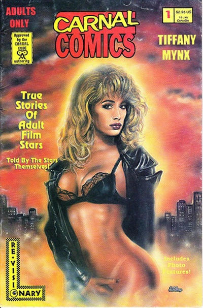 Cover for True Stories of Adult Film Stars - Tiffany Mynx (Re-Visionary Press, 1995 series) #1