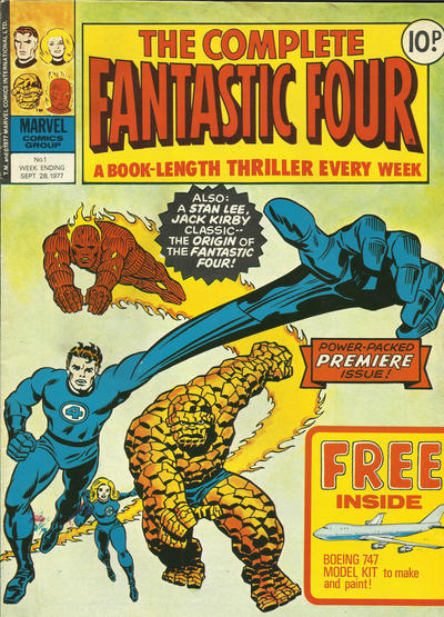 Cover for The Complete Fantastic Four (Marvel UK, 1977 series) #1