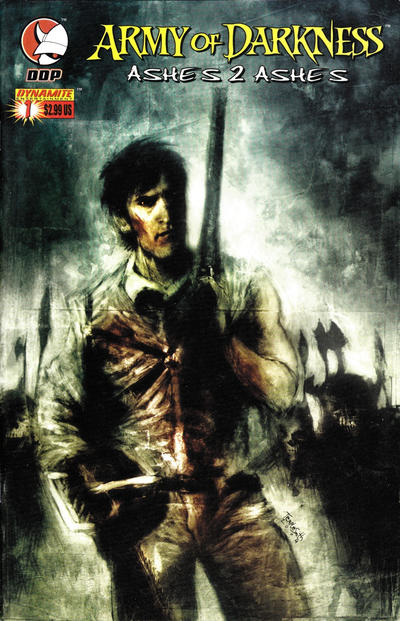 Cover for Army of Darkness: Ashes 2 Ashes (Devil's Due Publishing, 2004 series) #1 [Ben Templesmith Cover]
