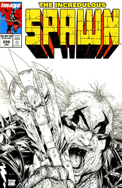 Cover for Spawn (Image, 1992 series) #226 [Cover B - B&W Incentive Sketch by Todd McFarlane]