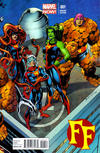 Cover for FF (Marvel, 2013 series) #1 [Connecting Variant Cover by Mark Bagley]