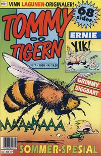 Cover Thumbnail for Tommy og Tigern (Bladkompaniet / Schibsted, 1989 series) #7/1995