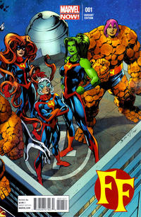 Cover Thumbnail for FF (Marvel, 2013 series) #1 [Connecting Variant Cover by Mark Bagley]