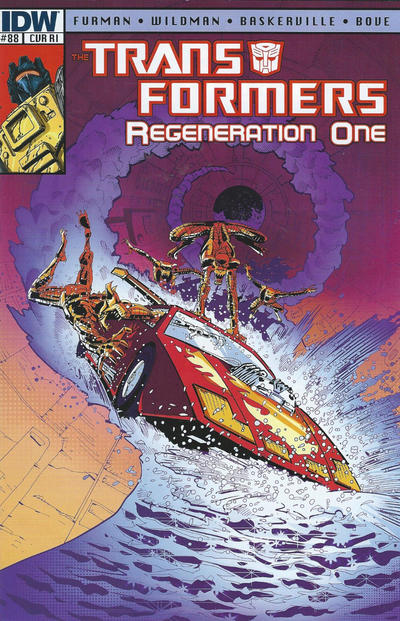Cover for Transformers: Regeneration One (IDW, 2012 series) #88 [Cover RI - Incentive Geoff Senior Variant]