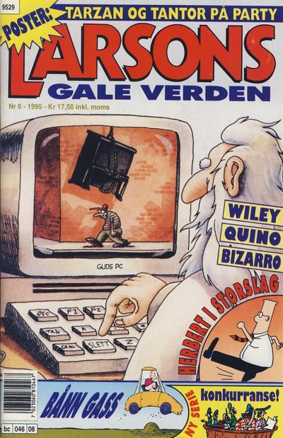 Cover for Larsons gale verden (Bladkompaniet, 1992 series) #6/1995