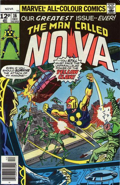 Cover for Nova (Marvel, 1976 series) #16