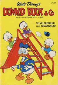 Cover Thumbnail for Donald Duck & Co (Hjemmet / Egmont, 1948 series) #40/1972