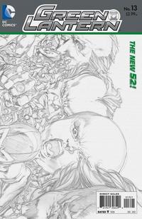 Cover Thumbnail for Green Lantern (DC, 2011 series) #13 [Ivan Reis Wraparound Sketch Cover]