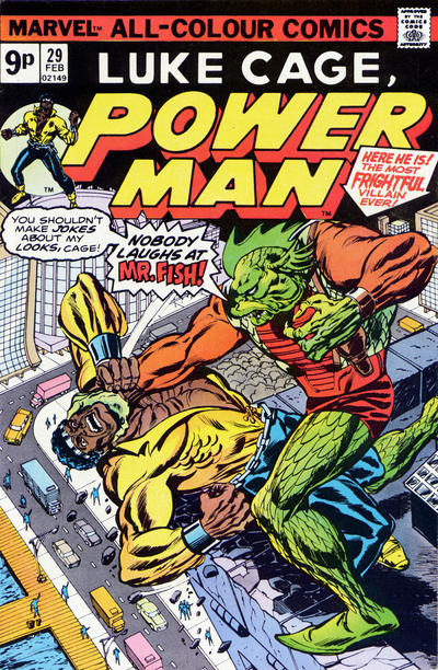 Cover for Power Man (Marvel, 1974 series) #29 [British price variant.]