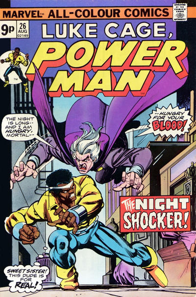 Cover for Power Man (Marvel, 1974 series) #26 [British price variant.]