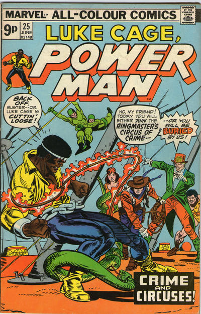 Cover for Power Man (Marvel, 1974 series) #25 [British price variant.]