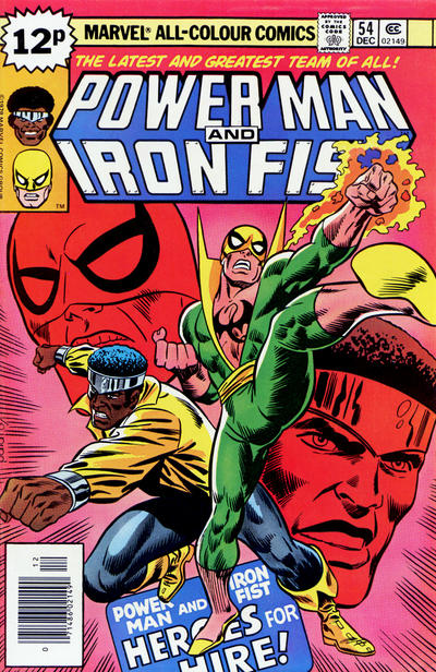 Cover for Power Man (Marvel, 1974 series) #54 [British price variant.]