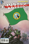 Cover for Justice League of America (DC, 2013 series) #1 [Washington Flag Cover]