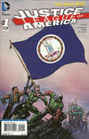 Cover for Justice League of America (DC, 2013 series) #1 [Virginia Flag Cover]