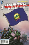 Cover for Justice League of America (DC, 2013 series) #1 [Vermont Flag Cover]