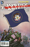 Cover for Justice League of America (DC, 2013 series) #1 [Utah Flag Cover]