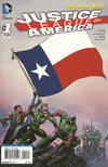 Cover for Justice League of America (DC, 2013 series) #1 [Texas Flag Cover]