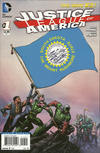 Cover for Justice League of America (DC, 2013 series) #1 [South Dakota Flag Cover]