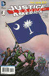 Cover for Justice League of America (DC, 2013 series) #1 [South Carolina Flag Cover]