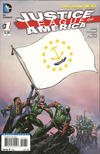Cover for Justice League of America (DC, 2013 series) #1 [Rhode Island Flag Cover]