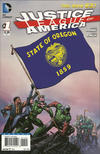 Cover for Justice League of America (DC, 2013 series) #1 [Oregon Flag Cover]