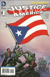 Cover for Justice League of America (DC, 2013 series) #1 [Puerto Rico Flag Cover]