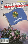 Cover for Justice League of America (DC, 2013 series) #1 [Oklahoma Flag Cover]