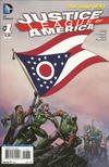 Cover for Justice League of America (DC, 2013 series) #1 [Ohio Flag Cover]