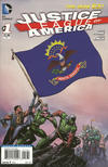 Cover for Justice League of America (DC, 2013 series) #1 [North Dakota Flag Cover]