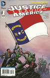 Cover for Justice League of America (DC, 2013 series) #1 [North Carolina Flag Cover]