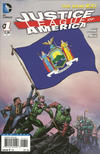 Cover for Justice League of America (DC, 2013 series) #1 [New York Flag Cover]