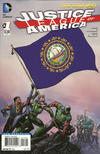 Cover for Justice League of America (DC, 2013 series) #1 [New Hampshire Flag Cover]
