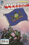 Cover for Justice League of America (DC, 2013 series) #1 [Pennsylvania Flag Cover]