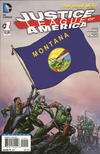 Cover for Justice League of America (DC, 2013 series) #1 [Montana Flag Cover]