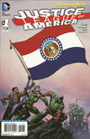 Cover for Justice League of America (DC, 2013 series) #1 [Missouri Flag Cover]