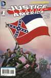 Cover for Justice League of America (DC, 2013 series) #1 [Mississippi Flag Cover]