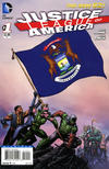 Cover for Justice League of America (DC, 2013 series) #1 [Michigan Flag Cover]