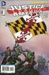 Cover for Justice League of America (DC, 2013 series) #1 [Maryland Flag Cover]