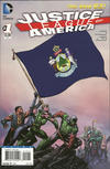 Cover for Justice League of America (DC, 2013 series) #1 [Maine Flag Cover]