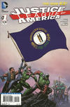 Cover for Justice League of America (DC, 2013 series) #1 [Kentucky Flag Cover]