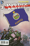 Cover for Justice League of America (DC, 2013 series) #1 [Kansas Flag Cover]