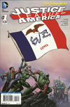 Cover for Justice League of America (DC, 2013 series) #1 [Iowa Flag Cover]