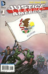 Cover for Justice League of America (DC, 2013 series) #1 [Illinois Flag Cover]